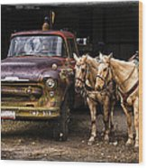Ranch Transportation Wood Print