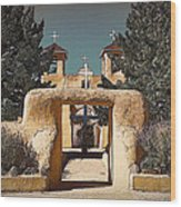 Ranchos Gate In Gum Bichromate Wood Print
