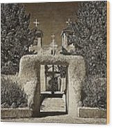 Ranchos Gate On Rice Paper Wood Print