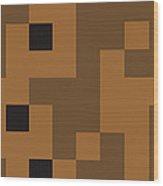 Random Digital Art Sahara 8 Wood Print