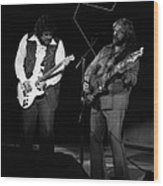 Randy And C.f. Rockin Out In Spokane In 1976 Wood Print
