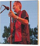 Randy Reis On Bass - The Fabulous Kingpins Wood Print by David Patterson