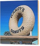 Randy's Donuts Wood Print