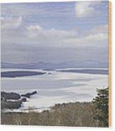 Rangeley Maine Winter Landscape Wood Print