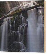 Ranger Falls Sunbeams Wood Print