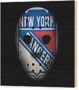 Rangers Goalie Mask Wood Print