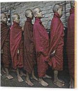 Rangoon Monks 1 Wood Print
