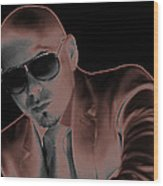 Rap Pitbull Wood Print