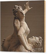 Rape Of Sabine Women Wood Print