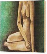 Raped And Torn Wood Print