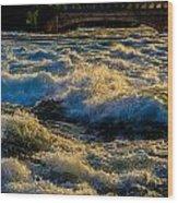 Rapids At Dusk Wood Print