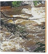 Rapids Of The Swift River Kancamagus Hwy View White Mountains Nh Wood Print