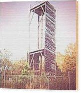 Rappelling Tower Wood Print
