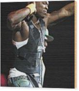 Rapper Fifty Cent Wood Print