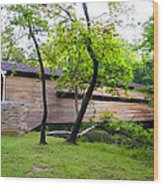 Rapps Covered Bridge Over French Creek Wood Print