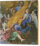 Rapture Of Saint Joseph Wood Print