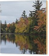 Raquette River Reflections Wood Print