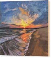 Rare California Sunset Wood Print