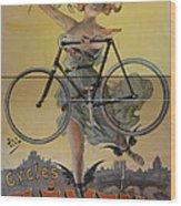 Rare Vintage Paris Cycle Poster Wood Print