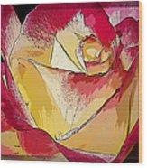 Rasberries And Cream Painterly Wood Print