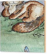 Rascal And Pal Wood Print