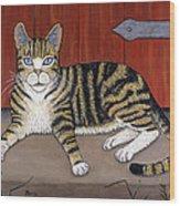 Rascal The Cat Wood Print