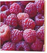 Homegrown Organic Raspberries, Chiloquin Oregon Wood Print