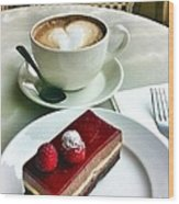 Raspberry Delice And Latte Wood Print