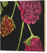 Raspberry Fabric Wood Print