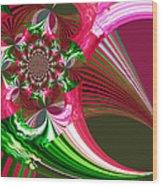 Raspberry Garden Wood Print
