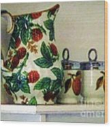Raspberry Pitcher Wood Print