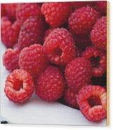 Raspberry Red Wood Print