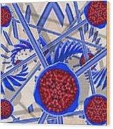 Raspberry Regime Wood Print
