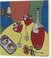 Raspberry Wine Wood Print