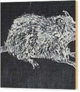 Rat - Oil Portrait Wood Print