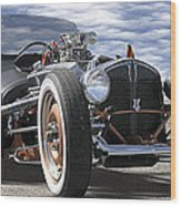 Rat Rod On Route 66 2 Panoramic Wood Print