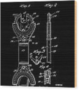 Ratchet Wrench Patent Wood Print