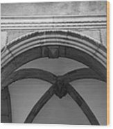 Rathaus Arch Bw Cologne Germany Wood Print