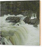 Rauma Waterfall Panorama Wood Print