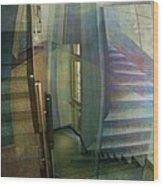 Raumirritation 35 Wood Print by Gertrude Scheffler