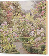 Raundscliffe - Everywhere Are Roses Wood Print