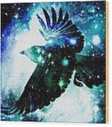 Raven Wood Print by Anastasiya Malakhova