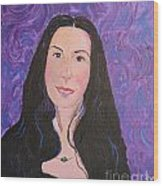 Raven Hair Wood Print