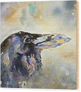 Raven I Wood Print