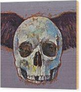 Raven Skull Wood Print