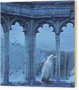 Raven Of Winter Wood Print