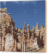 Raven Over Bryce Canyon Wood Print
