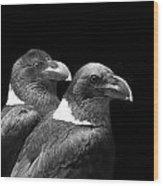 Raven Pair Wood Print