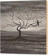 Raven Sonatta Wood Print
