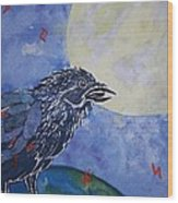 Raven Speak Wood Print